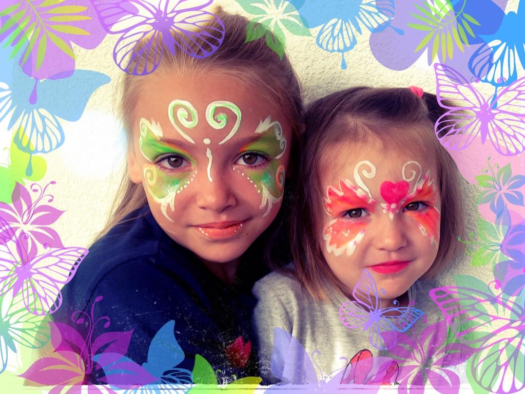 Kinderschminken Schmetterlinge